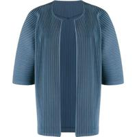 Homme Plissé Issey Miyake Open Front Pleated Cardigan - Azul