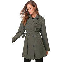 Casaco Trench Coat Ellus Nylon Wrinckle Verde