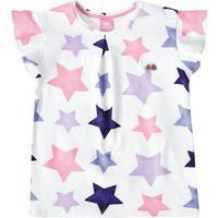 Blusa Lilica Ripilica Com Estampa Estrelada Infantil Branco