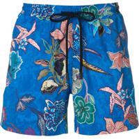 Etro Floral Swim Shorts - Azul