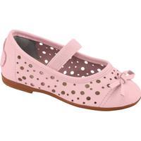 Sapato Boneca Com Vazados Em Couro- Rosa Clarolilica Ripilica E Tigor T. Tigre