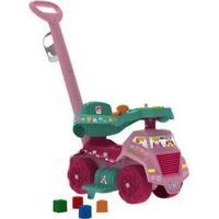 Carrinho Andador Bebê Caminhão Jardinagem - Unissex-Rosa