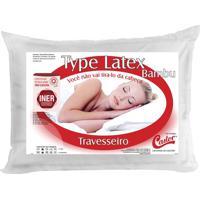 Travesseiro Type Latex- Branco- 16X65X45Cmcastor