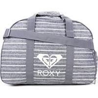 Bolsa Roxy Feel Happy Heather Feminina - Feminino-Cinza+Branco