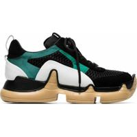 Swear Black Nitro Large Mesh And Leather Sneakers - Preto