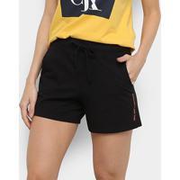Short Pijama Calvin Klein Cotton Feminino - Feminino-Preto
