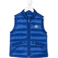 Moncler Kids Padded Quilted Gilet - Azul