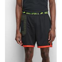 Shorts Nike Dry Dy Masculino - Masculino-Preto+Vermelho