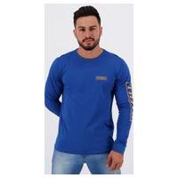 Camiseta O'Neill Team Estampada Manga Longa Azul
