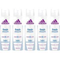 Kit 5 Desodorantes Aerosol Adidas Feminino Cool & Care Fresh 150Ml - Feminino-Incolor
