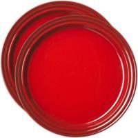 Prato Redondo 23 Cm 2 Peças Vermelho Le Creuset