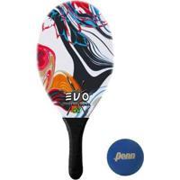 Raquete Frescobol Evo Fibra De Vidro Vetor + Bola Penn - Unissex