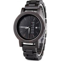 Relógio Design Madeira Dododeer-A29 - Marrom Escuro