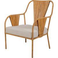 Cadeira Saná De Rattan Com Braço