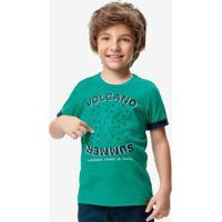 Camiseta Verde Resinada Menino Malwee Kids