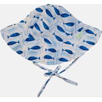 Chapéu Com Proteção Solar Fpu 50+ Ecoeplay Atum Branco