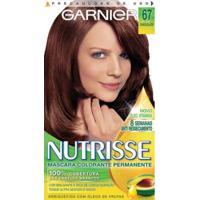Tintura Garnier Nutrisse 67 Chocolate Louro Escuro Dourado