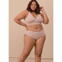 Calcinha Com Detalhe Renda Plus Size Rosãª-46 Rosa
