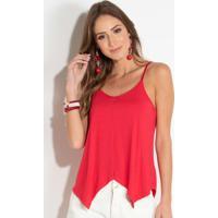 Blusa Vermelha De Alças Com Pontas Quintess