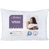 Travesseiro Altenburg Plumi Prata Para Quem Dorme De Costas Branco