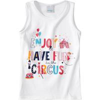 Blusa Estampa Circus Glitter Menina Malwee Kids
