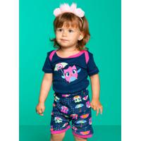 Pijama Manga Curta Chuva Baby 6 A 9M