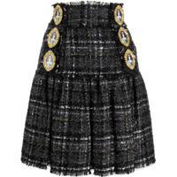 Dolce & Gabbana Saia De Tweed Com Botões - Preto