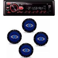 Radio Mp3 Player Mvh-298Bt Bluetooth Usb Aux Pioneer E Kit 4 Alto Auto Falantes Hurricane 6 Pol
