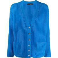 Incentive! Cashmere Cardigan Decote Em V De Cashmere - Azul
