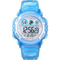 Relógio Infantil Skmei Digital Feminino - Feminino-Azul