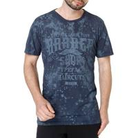 Camiseta Manga Curta Masculina Dixie Azul