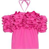Rosie Assoulin Blusa Com Babados - Rosa