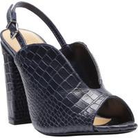 Open Boot Com Textura Animal & Fivela - Azul Marinhoschutz