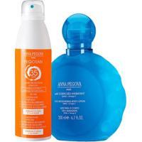 Leite Hidratante Corporal + Protetor Solar Corporal - Kit Anna Pegova - Unissex-Incolor