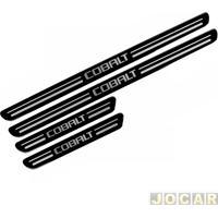 Aplique Da Soleira - Cobalt 2011 Em Diante - Resinado - Auto Colante - Preto - Jogo
