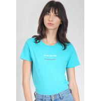 Blusa Calvin Klein Jeans Frase Azul