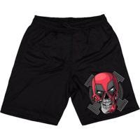 Bermuda Skull Clothing Deadpool Skull Masculina - Masculino