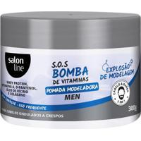 Pomada Modeladora Bomba Men 300G Salon Line - Unissex-Incolor