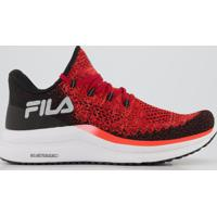 Tênis Fila Racer Knit Energized Vermellho E Preto