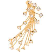 Panconesi Par De Brincos De Prata Banhado A Ouro Com Cristais - Metallic