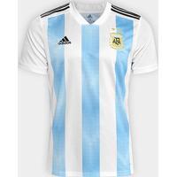 Camisa Seleção Argentina Home 2018 S/N° Torcedor Adidas Masculina - Masculino