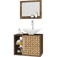 Conjunto P/ Banheiro Baden Madeira Rústica Bechara