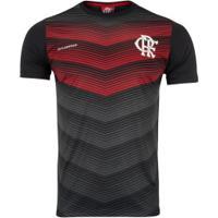Camiseta Do Flamengo Rap 19 - Masculina - Preto/Vermelho