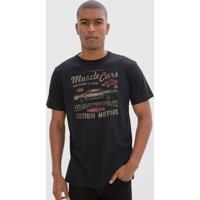 Camiseta Comfort Estampa Muscle Cars