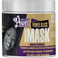 Máscara Intensiva Soul Power - Power Black Master 400G - Unissex