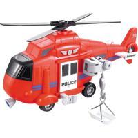 Miniatura Helicoptero De Resgate Com Luz E Som Shiny Toys