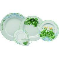 Aparelho Para Jantar E Chá Porcelana Schmidt 30 Pç - Dec. Tropical