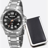 Kit Relógio Masculino Seculus 20787G0Svna2K