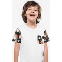 Camiseta Floral Manga Niños 500003