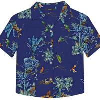 Camisa Manga Curta Estampada Tecido Eden - Lez A Lez